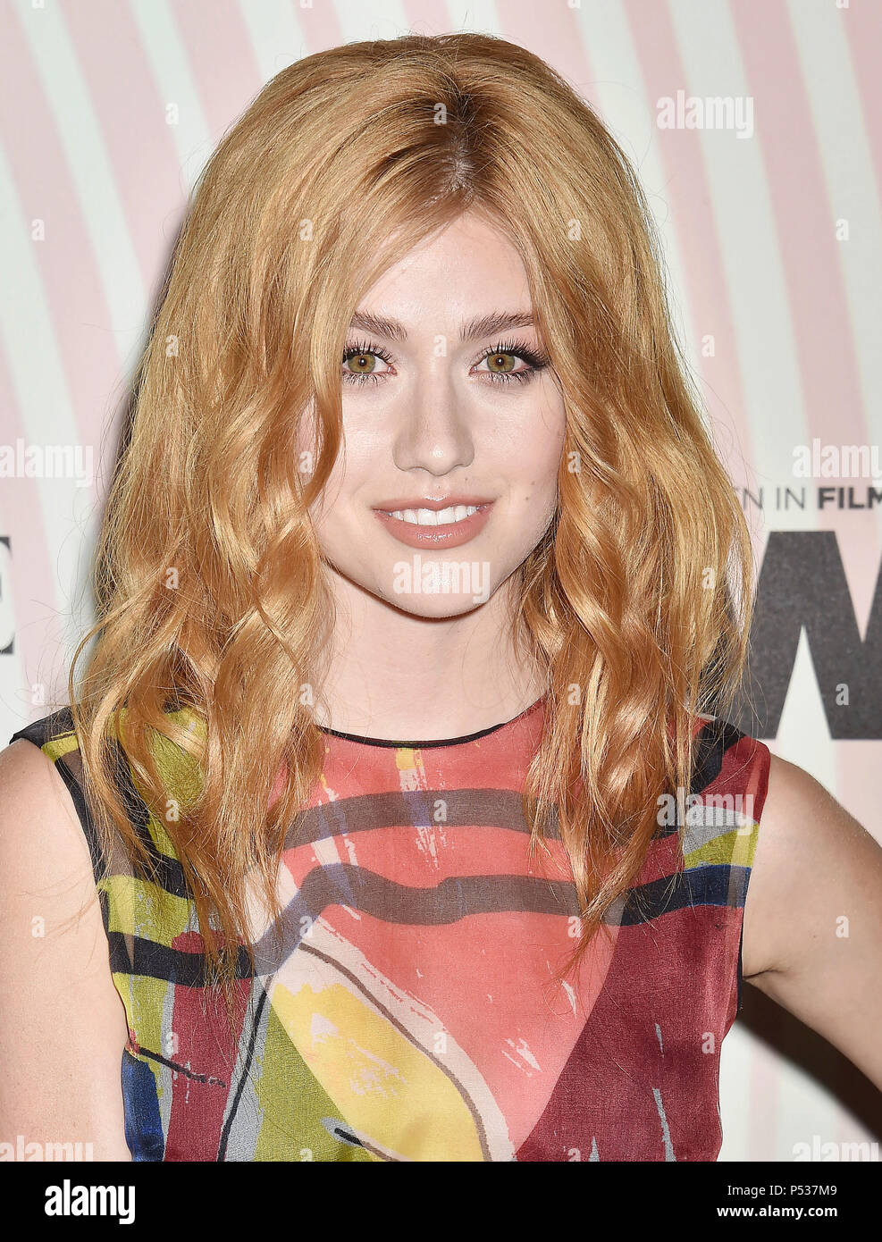 KATHERINE McNAMARA US film actress  attends the Women In Film 2018 Crystal + Lucy Awards at The Beverly Hilton Hotel on June 13, 2018 in Beverly Hills, California. Photo: Jeffrey Mayer - Stock Image
