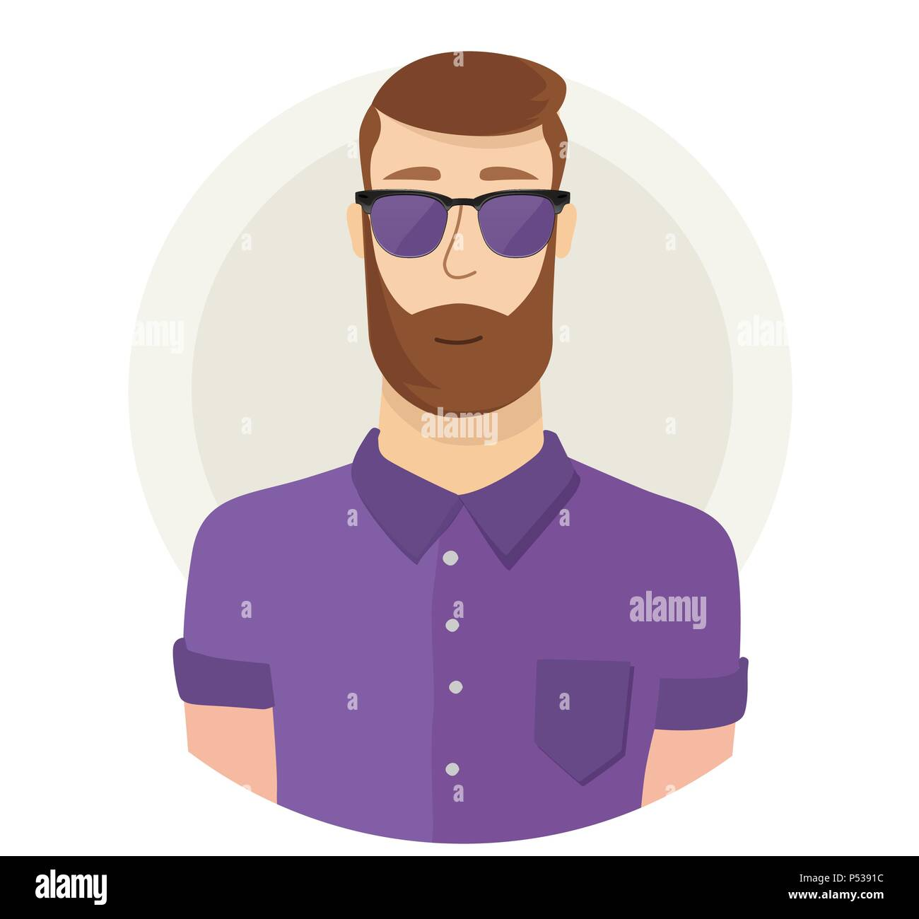 Hipster Beard Stock Vector Images - Alamy