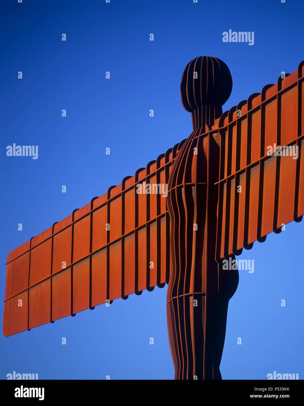 Close up of the Angel of the North, Tyne and Wear, England - Stock Image