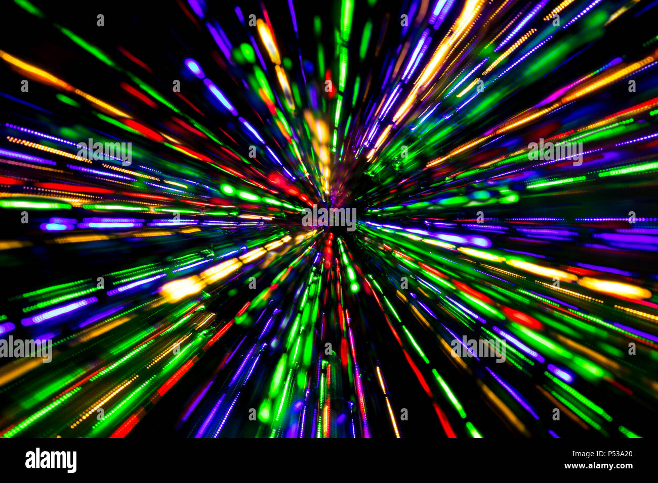 various colors cc514 44b87 Diagonal blurred lines of color lights is converged on dark ...