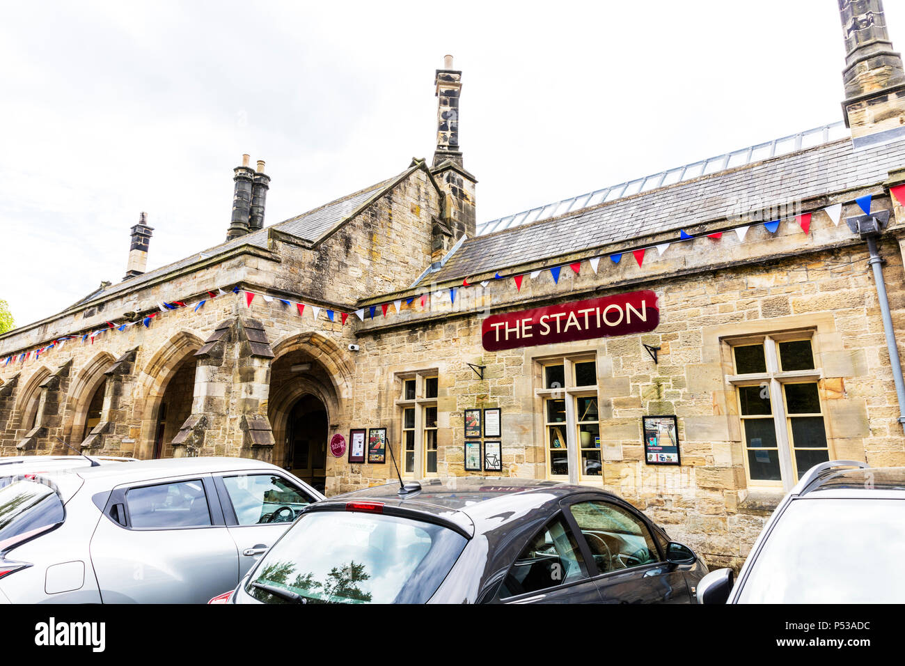 the station Richmond, Richmond Yorkshire UK, the station Richmond yorkshire, Disused railway station at Richmond Station North Yorkshire, building, UK - Stock Image
