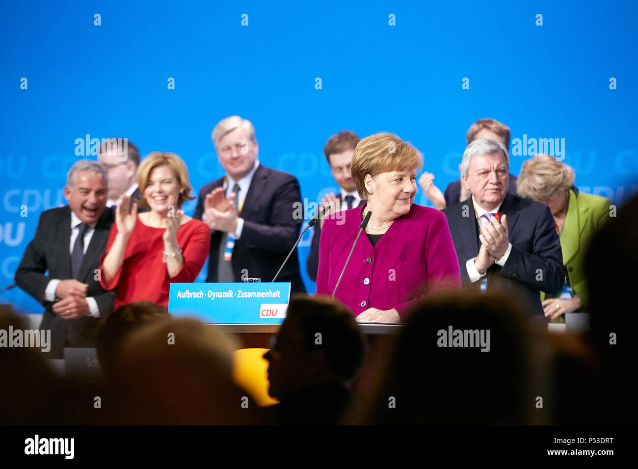Berlin, Germany - The party leader Angela Merkel at the 30th Federal Party Congress of the CDU. Stock Photo