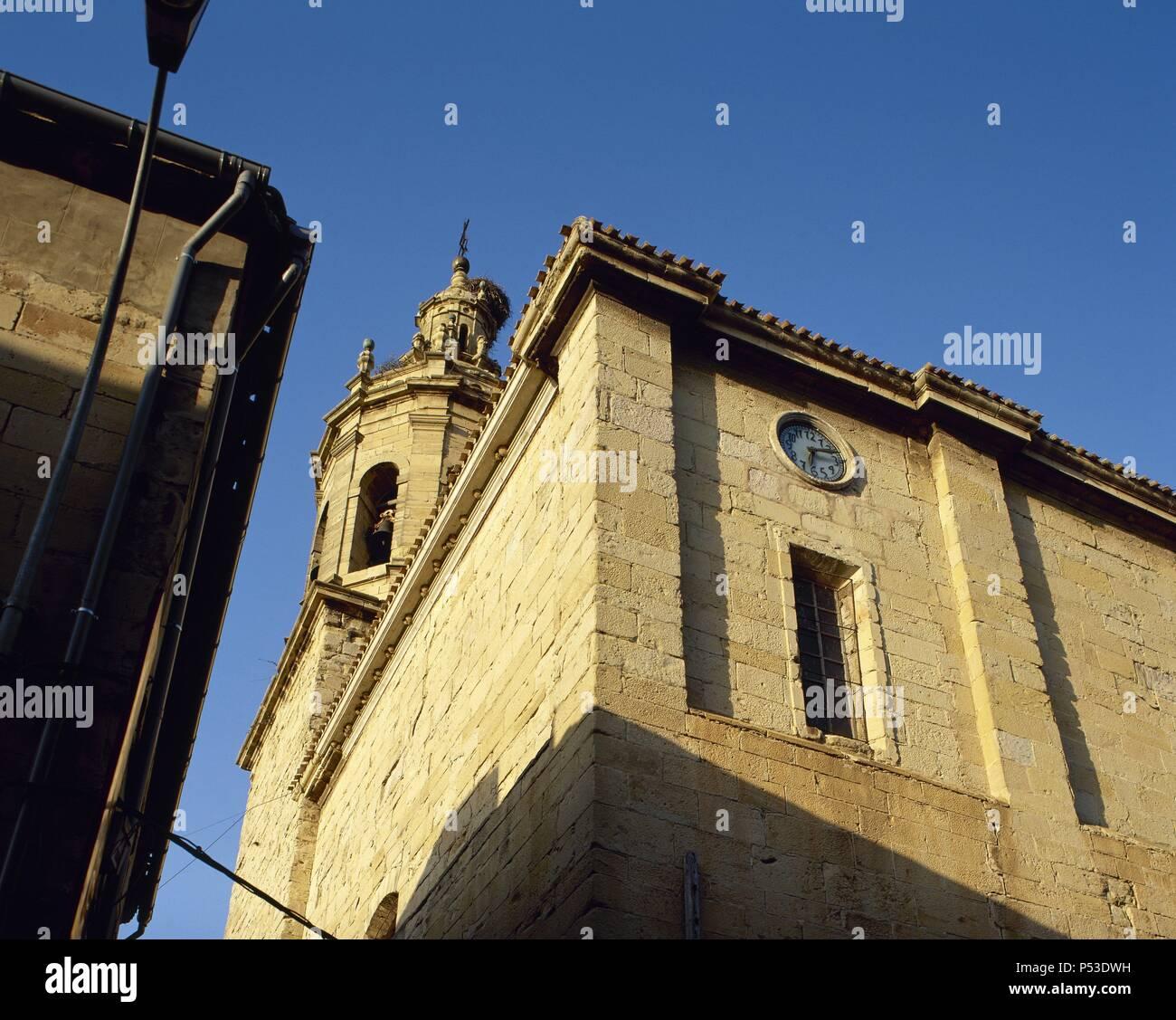 La Rioja Cenicero Vista Parcial De Los Muros Exteriores De La - Muros-exteriores