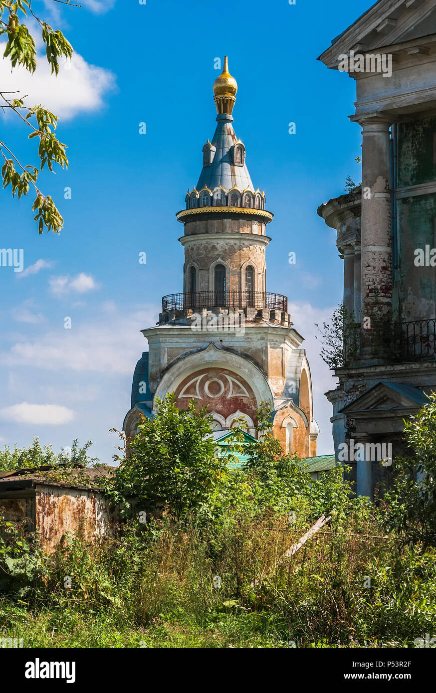 One of the towers of Boris and Gleb Monastery. Torzhok. Russia - Stock Image