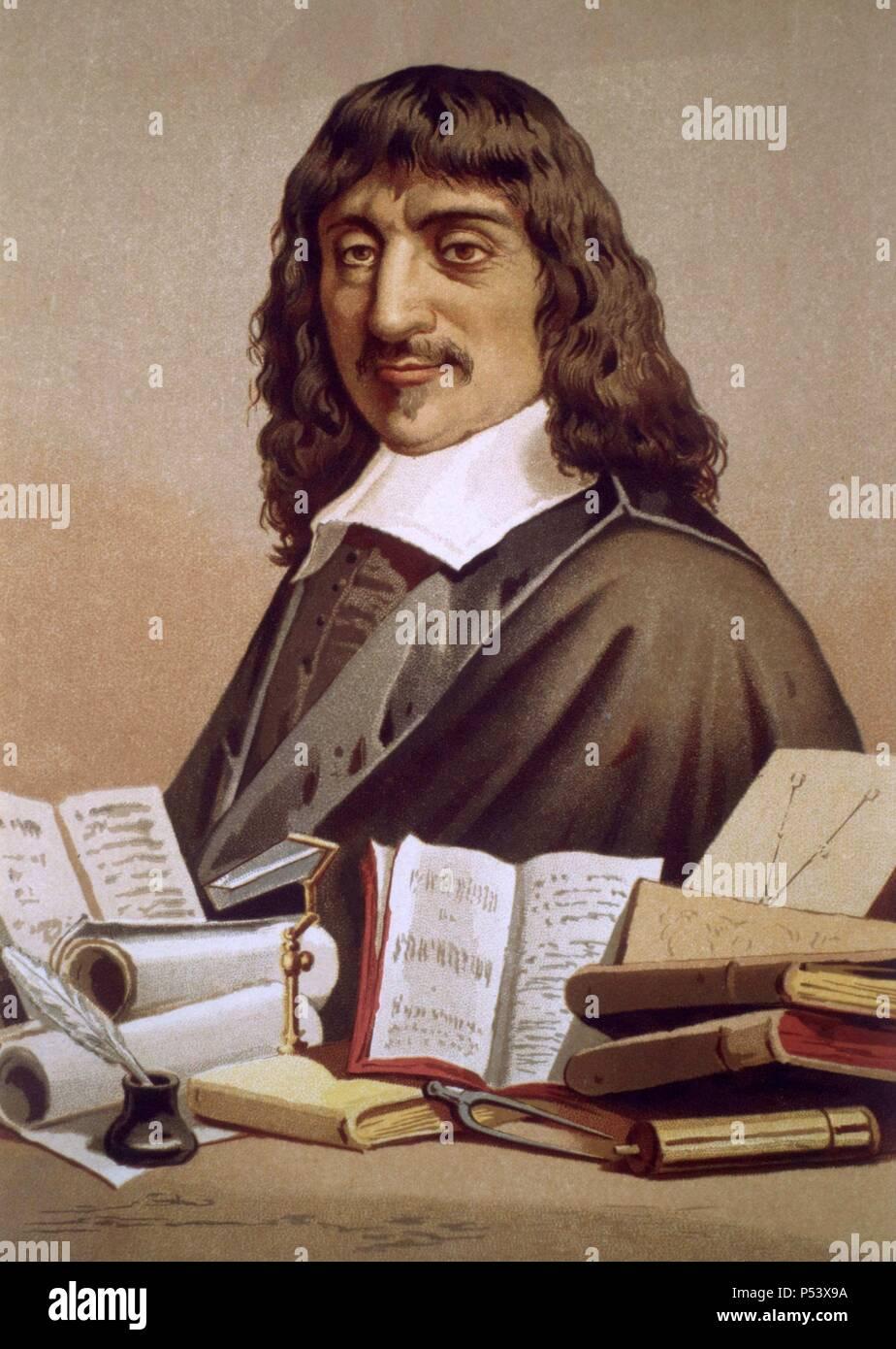 René Descartes (1596-1650), filósofo, matemático y físico francés. Stock Photo