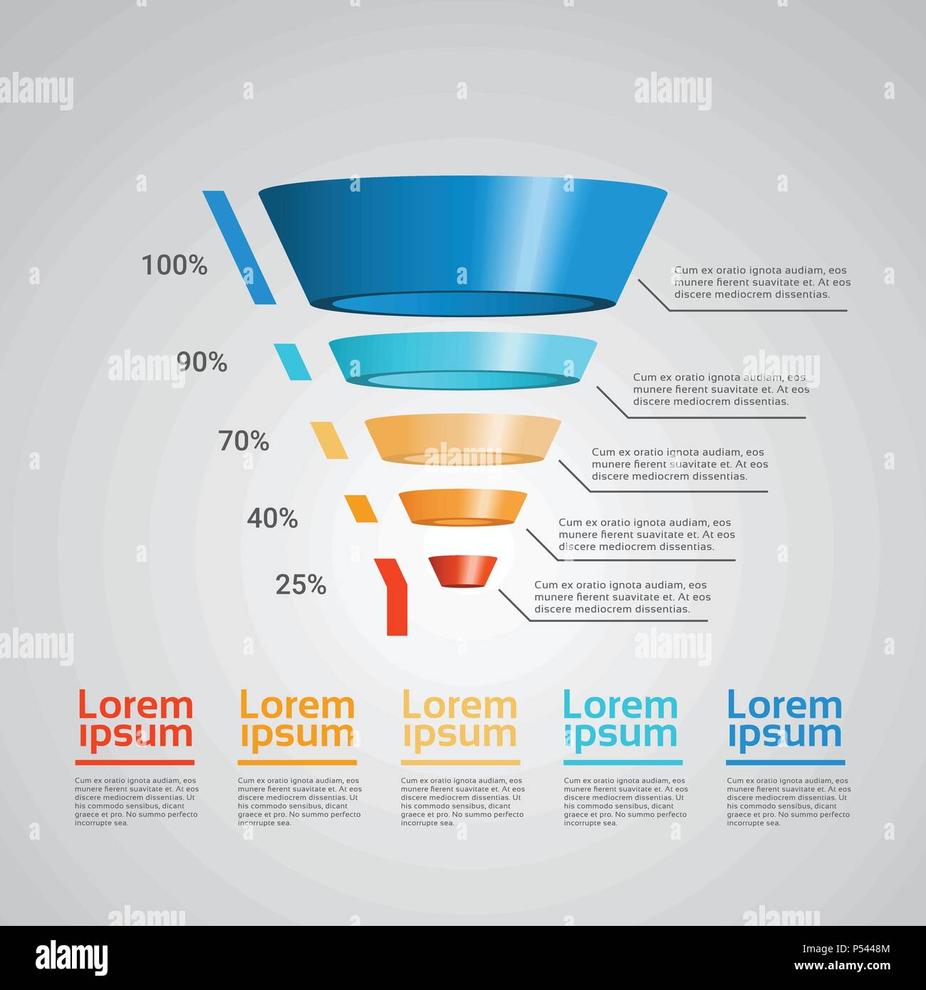 business timeline process chart infographics funnel template used