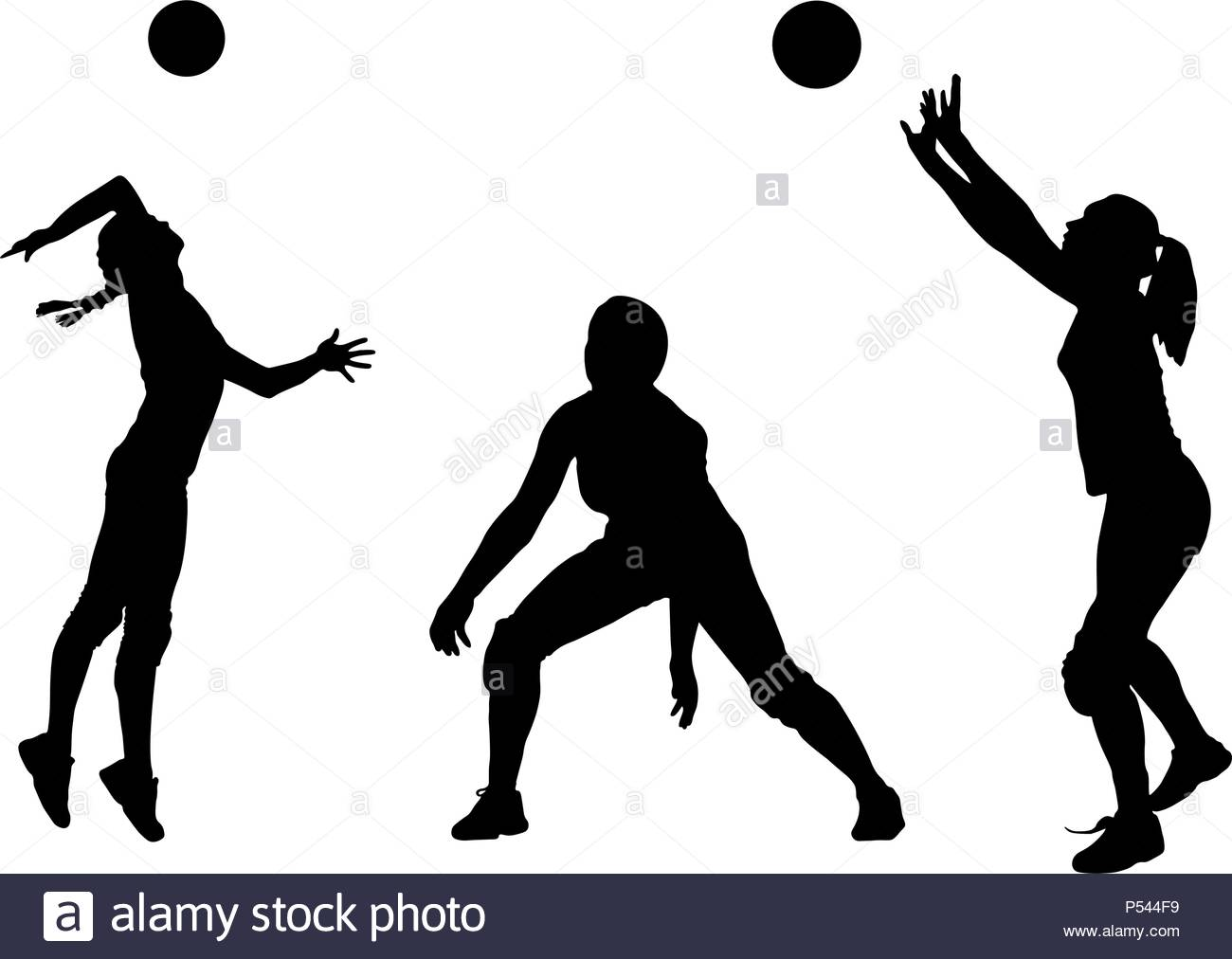 Abstract Triangle Volleyball Player Silhouette Stock: Volleyball Spike Stock Vector Images