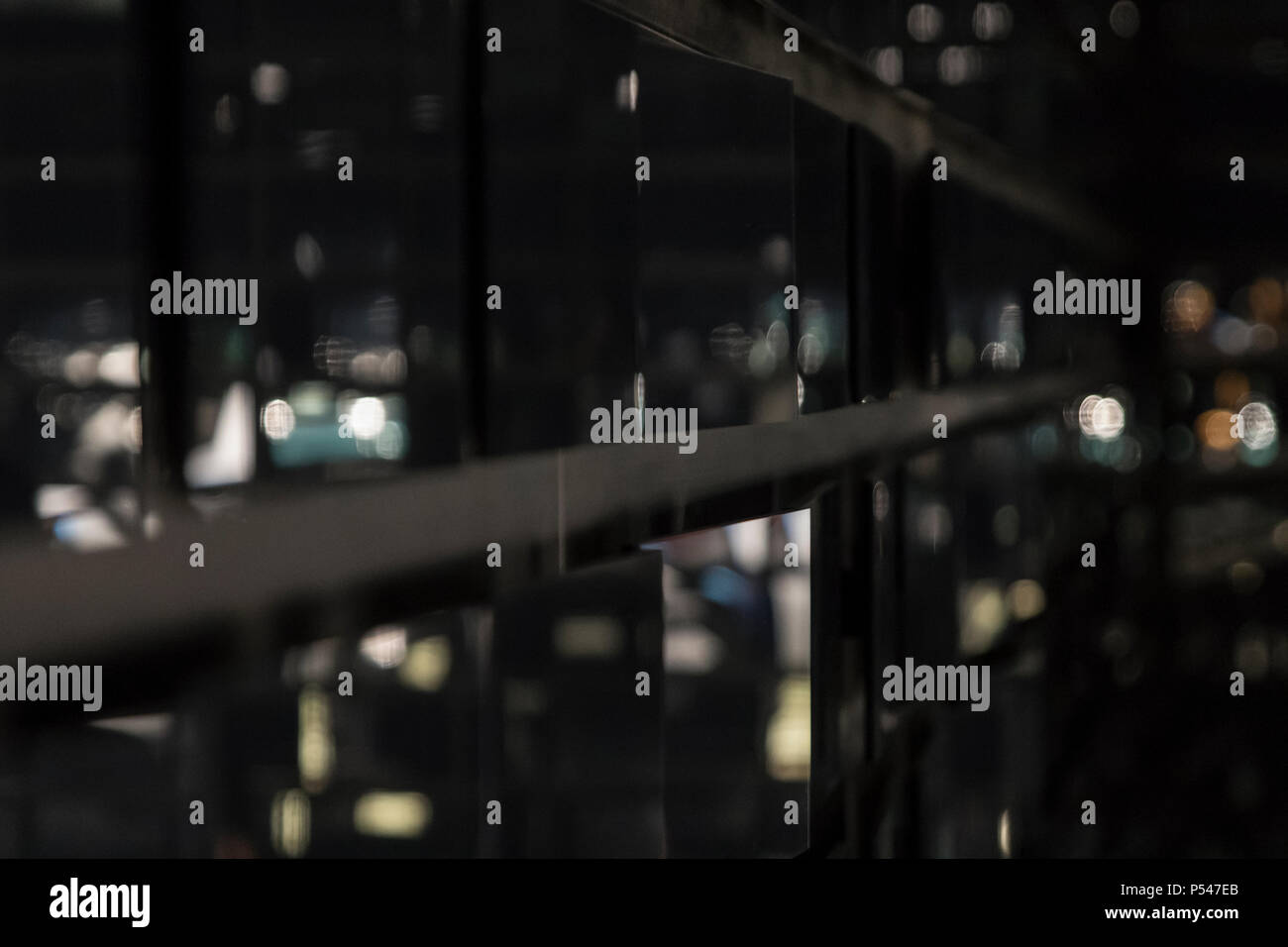 abstract blurs and reflections with mirrors - Stock Image