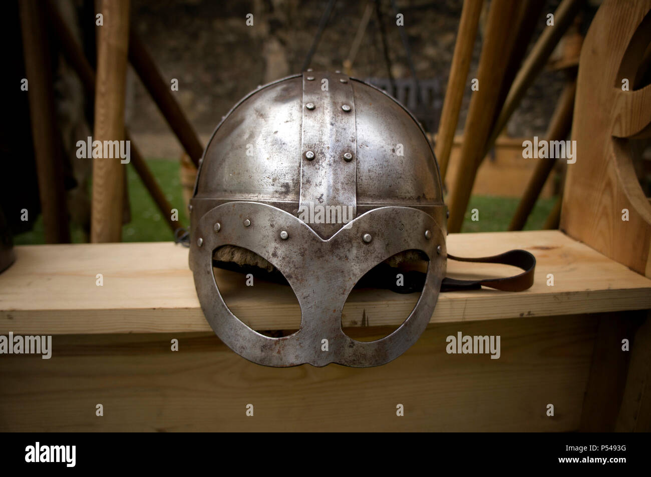 A viking spectacle helmet. - Stock Image