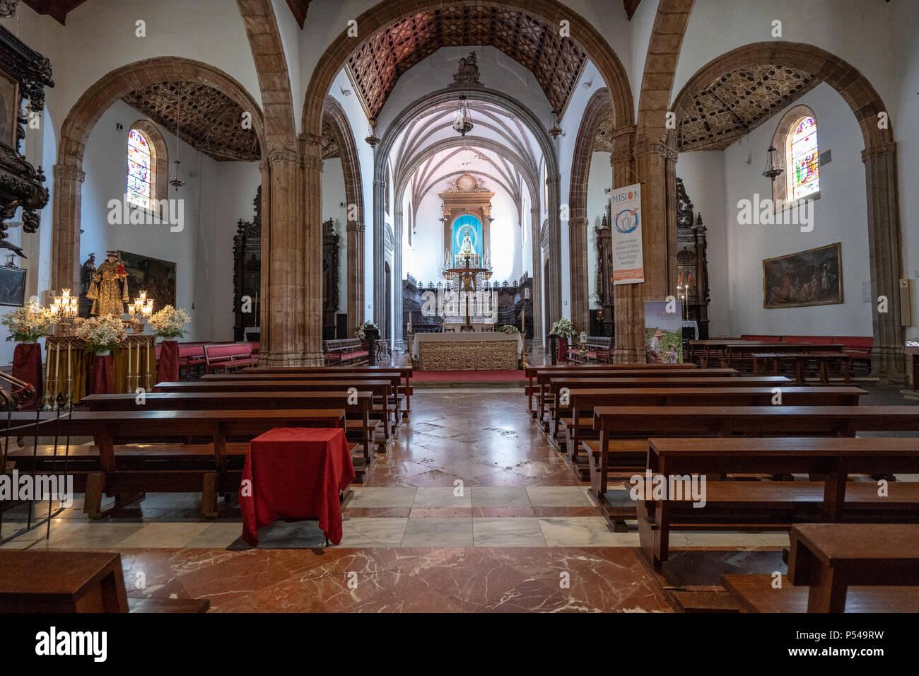 La laguna, Tenerife, Canary Islands, June 7, 2018: Interior of Nuestra Senora de la Concepcion of the historical town of San Cristobal de La Laguna, - Stock Image