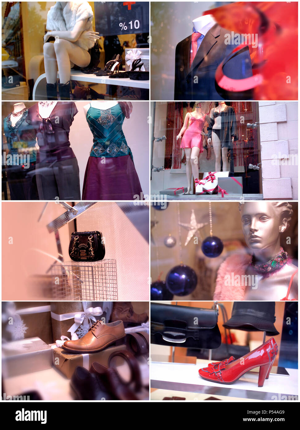 an image of store display window - Stock Image