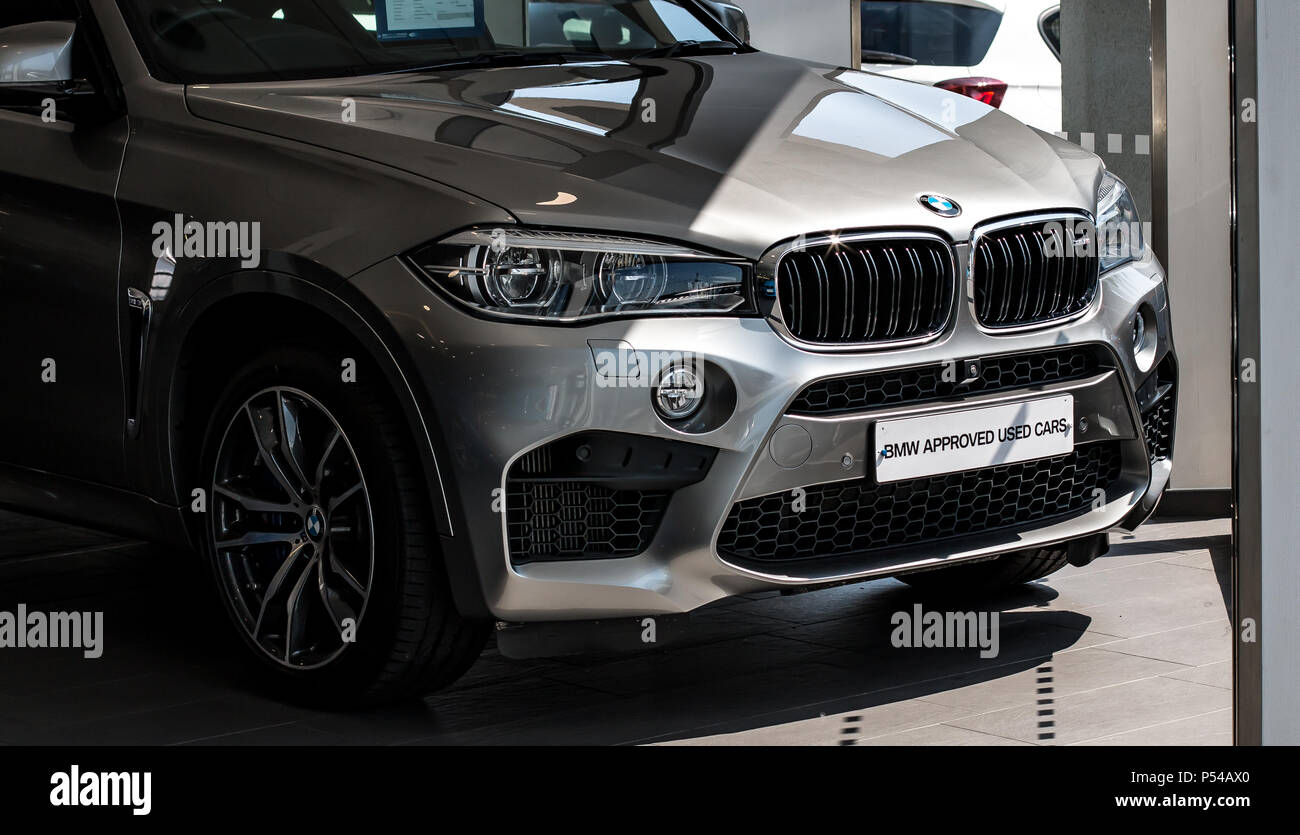 A modern BMW X5M  SUV - Stock Image