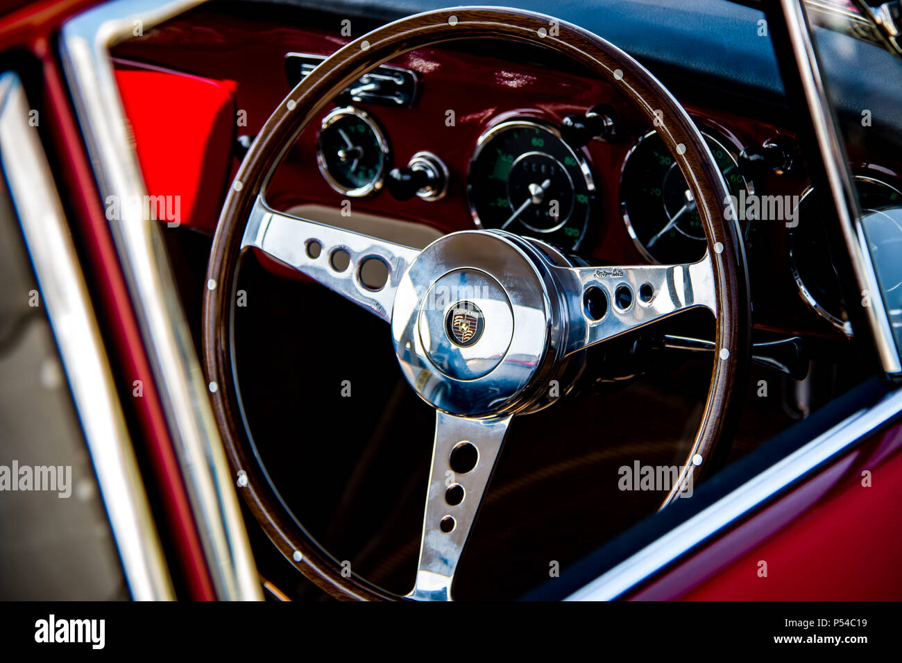 Classic Porsche 356 Steering Wheel Stock Photo Alamy