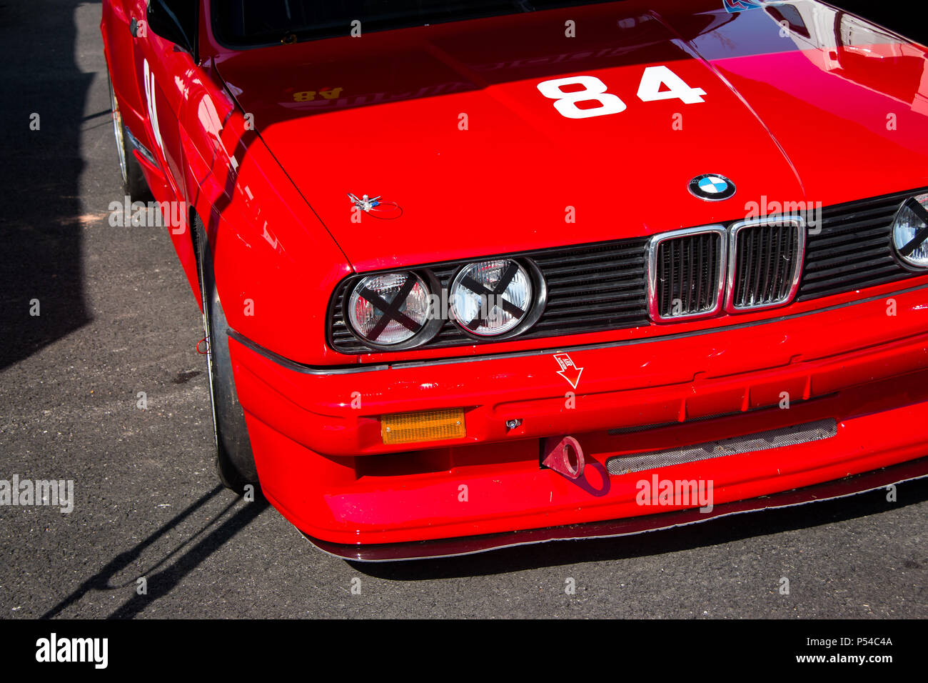 Classic Bmw M3 E30 Racing Car Stock Photo Alamy