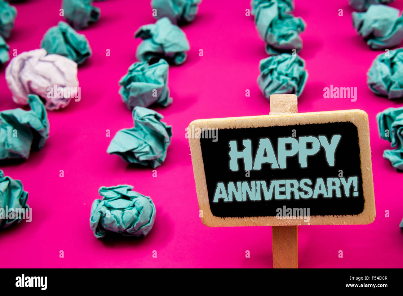 Text sign showing Happy Anniversary Motivational Call. Conceptual ...