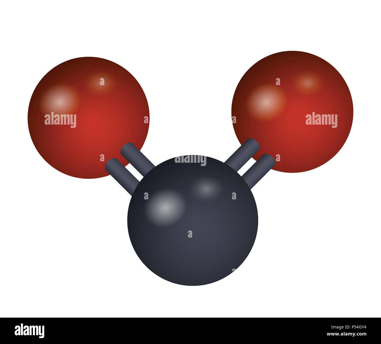 A molecule of carbon dioxide - Stock Image