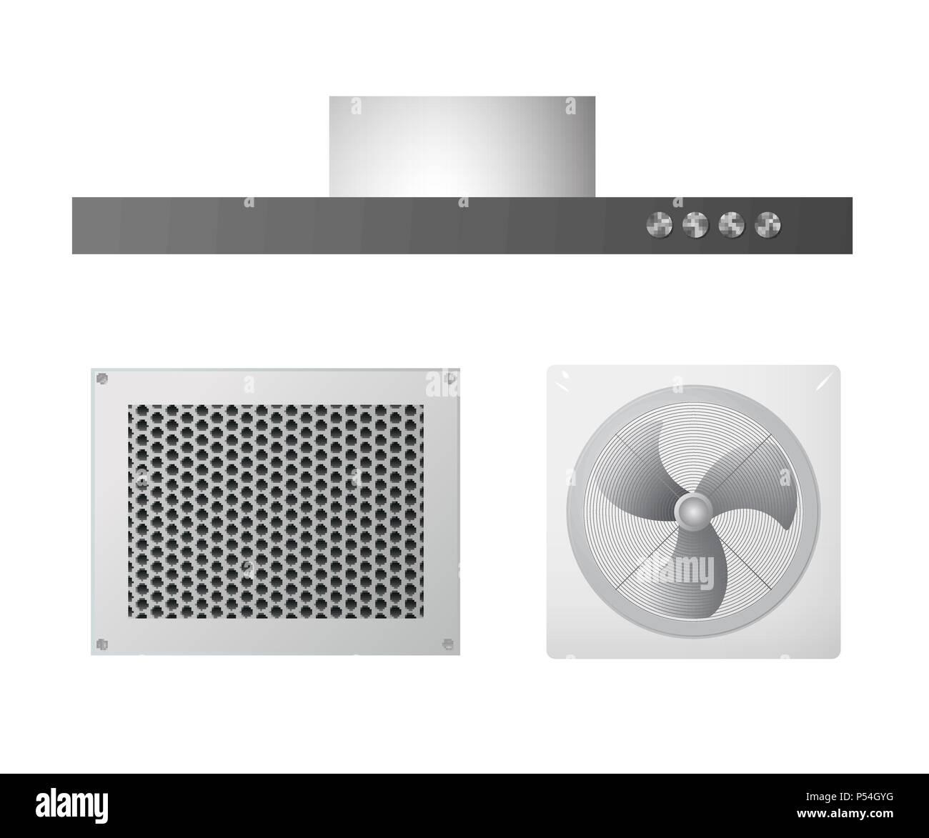 Ventilation equipment - Stock Image