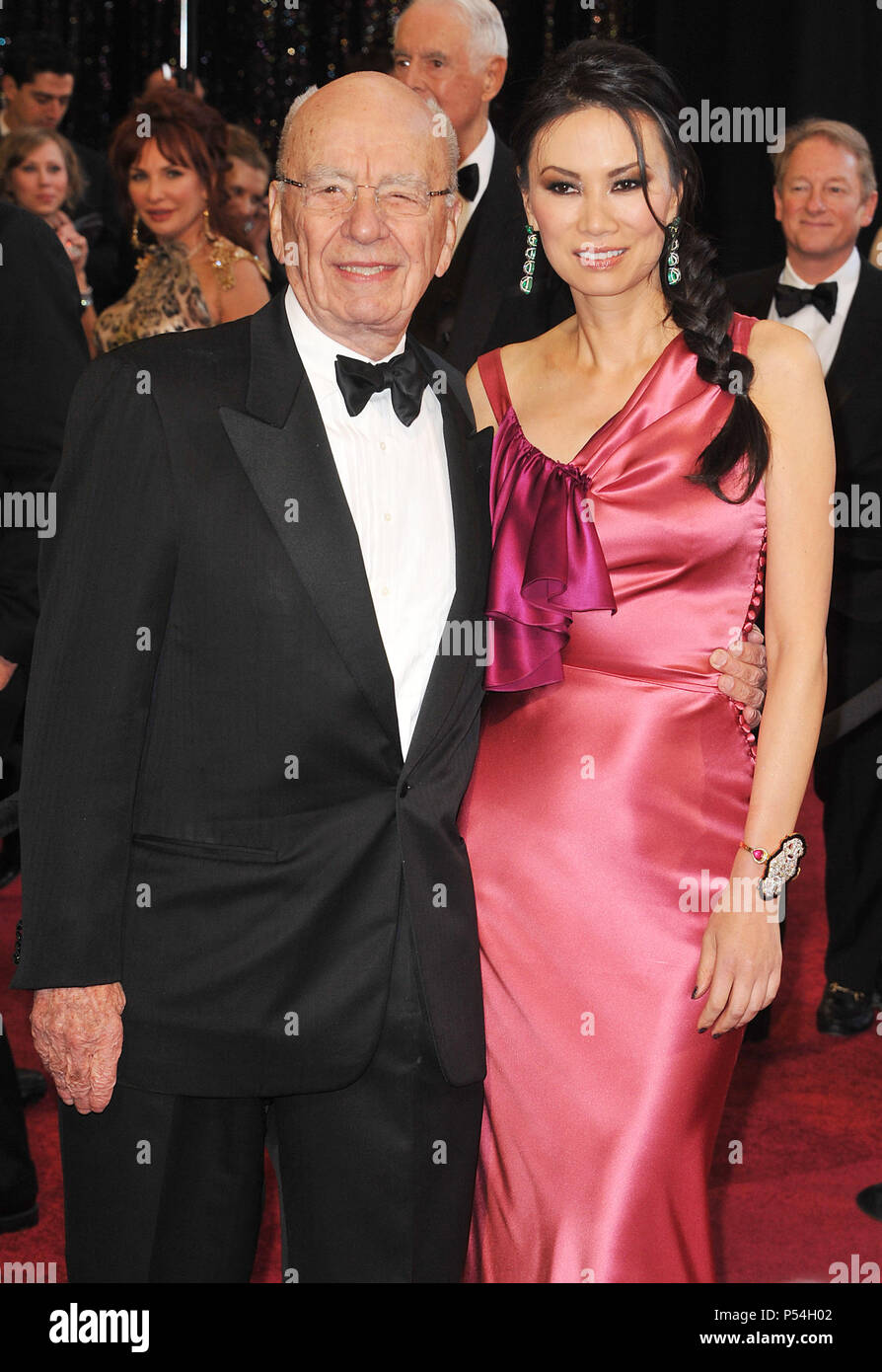 Rupert Murdoch and wife_01 at the 83th Academy Awards at the Kodak Theatre In Los Angeles.Rupert Murdoch and wife_01 ------------- Red Carpet Event, Vertical, USA, Film Industry, Celebrities,  Photography, Bestof, Arts Culture and Entertainment, Topix Celebrities fashion /  Vertical, Best of, Event in Hollywood Life - California,  Red Carpet and backstage, USA, Film Industry, Celebrities,  movie celebrities, TV celebrities, Music celebrities, Photography, Bestof, Arts Culture and Entertainment,  Topix, vertical,  family from from the year , 2011, inquiry tsuni@Gamma-USA.com Husband and wife - Stock Image