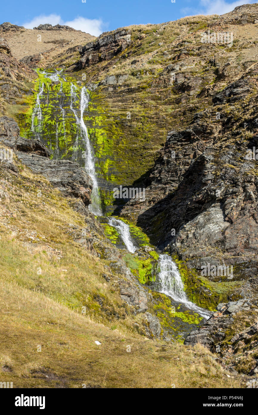 Shackleton's Waterfall in Shackleton Valley, South Georgia Island - Stock Image
