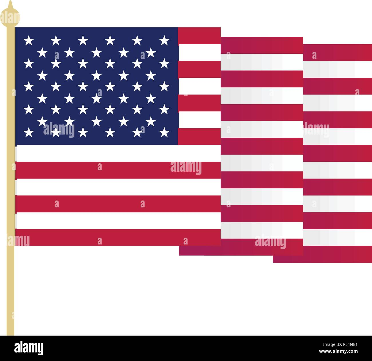 18d2f4133051 Usa Flag Waving On The Wind Stock Vector Images - Alamy