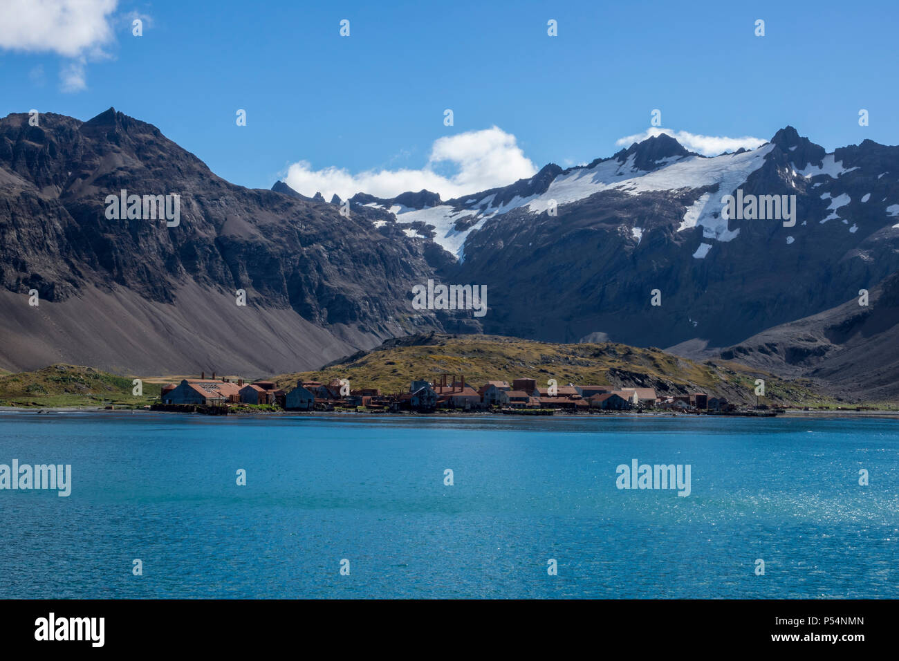 Leith Whaling Station, South Georgia Island, British Overseas Territories Stock Photo