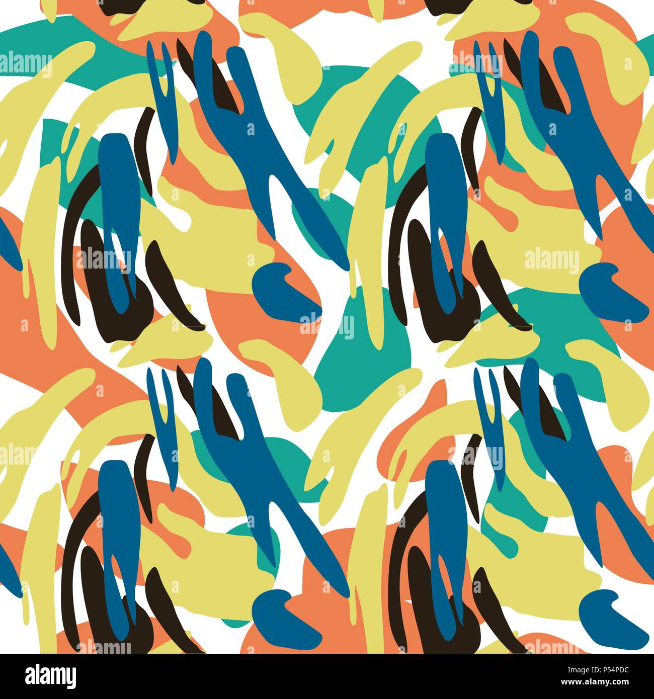 Military Blue Camouflage Seamless Pattern Stock Photos & Military ...