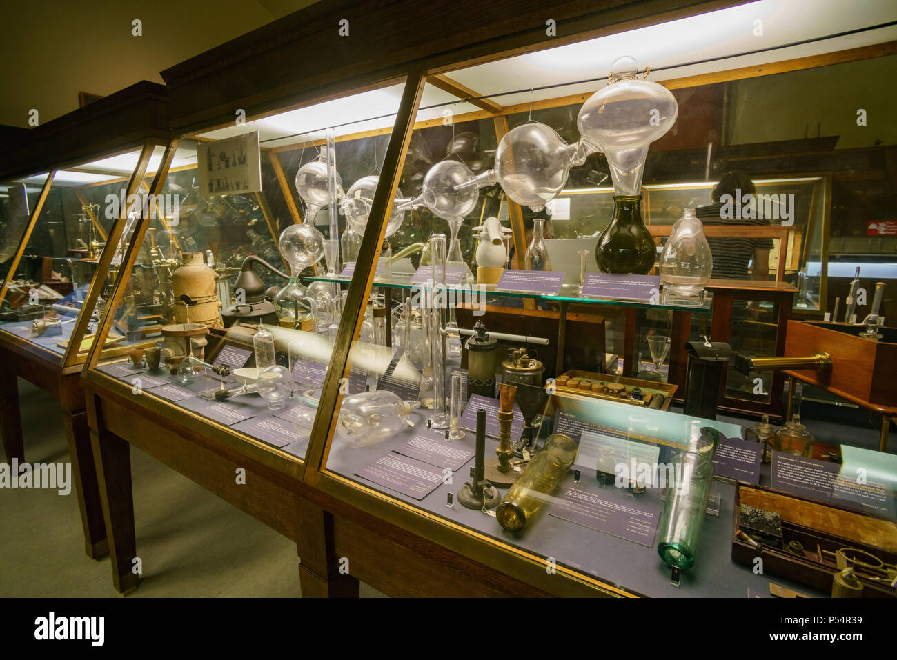 Oxford, JUL 9: Interior view of the Museum of the History of Science on JUL 9, 2017 at Oxford, United Kingdom - Stock Image