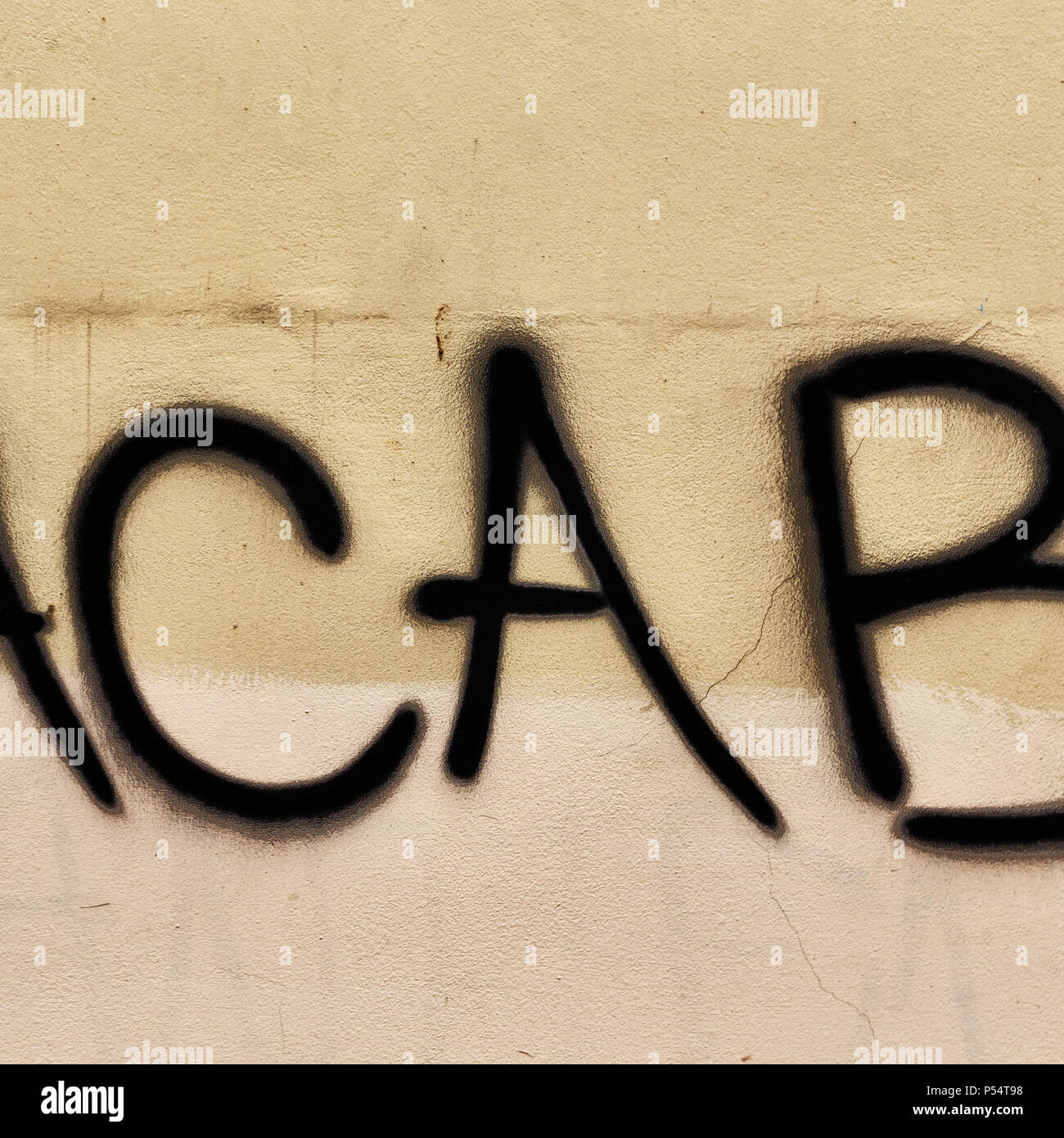 in the old wall the painted words of acab like concept of violence ...