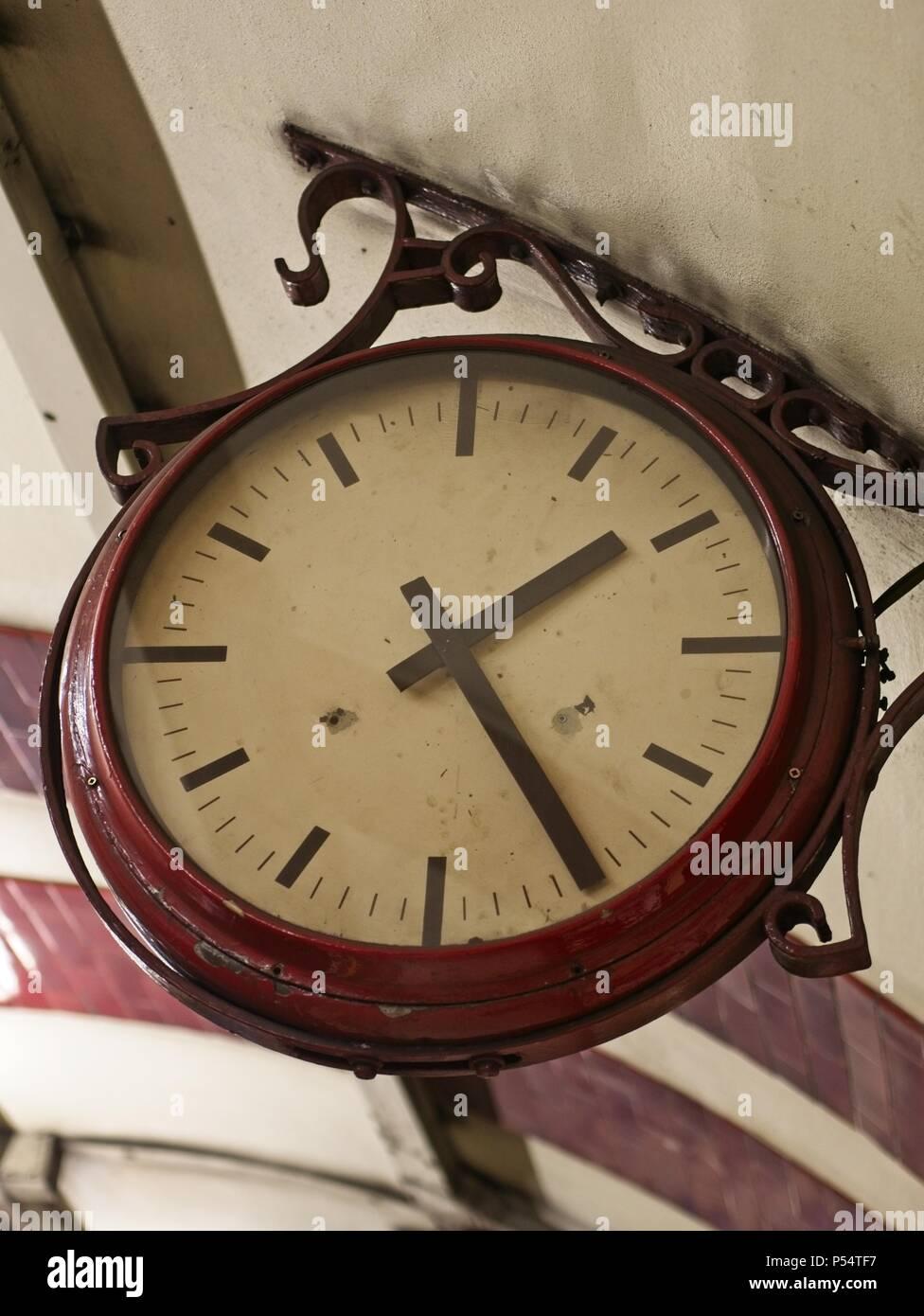 Station Clock Hanging Clock Stock Photos Amp Station Clock
