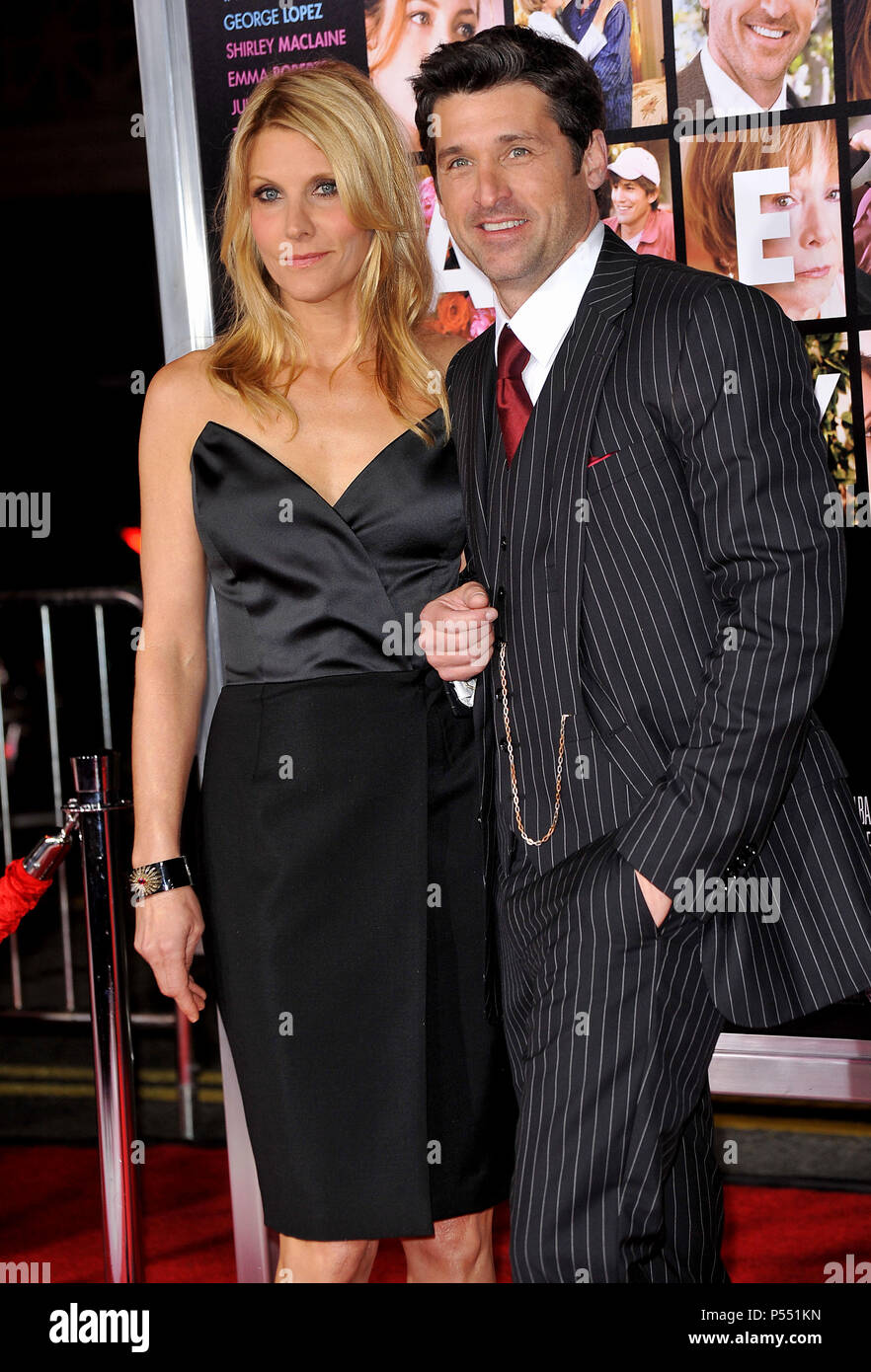 Patrick Dempsey Wife 45 Valentineõs Day Premiere At The Chinese