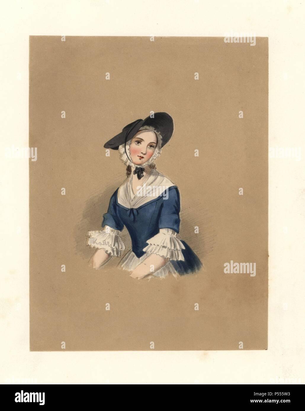 Dress Of The Reign Of King George Ii 1727 1760 She Wears A Flat