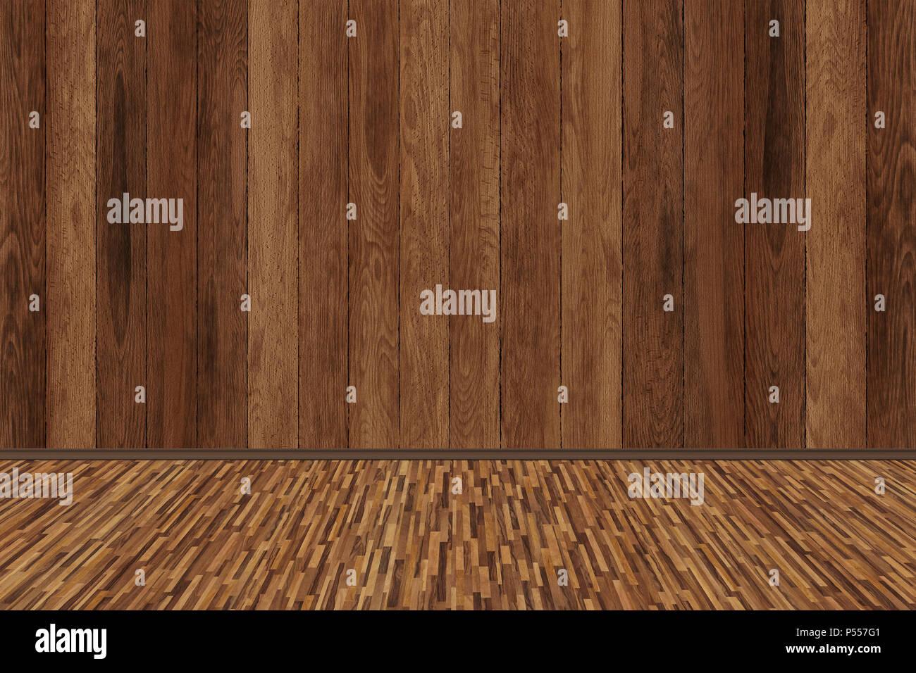 Wood room texture, vintage textured - Stock Image