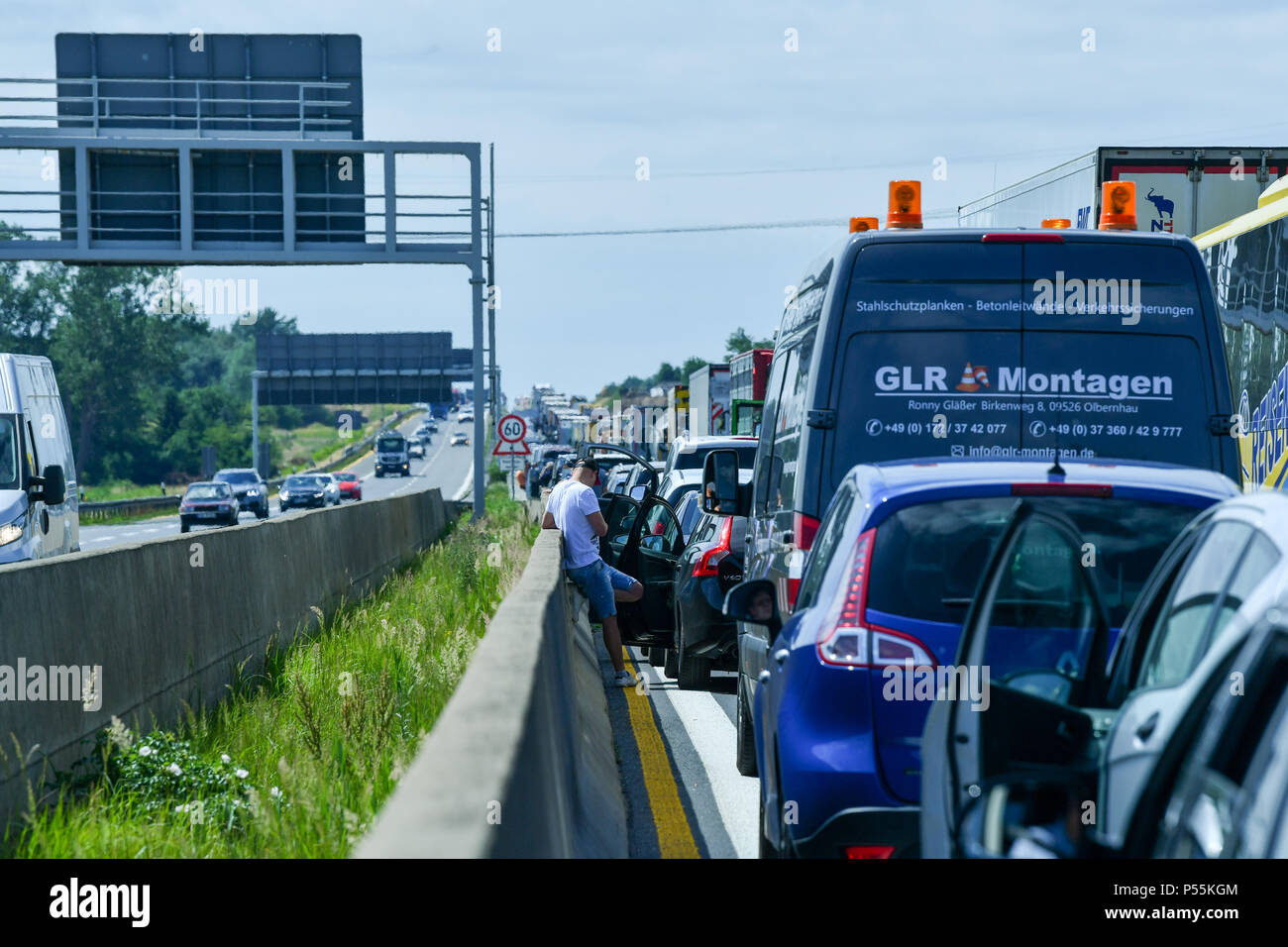 Germany, Berlin  12th June, 2018  Cars and trucks are