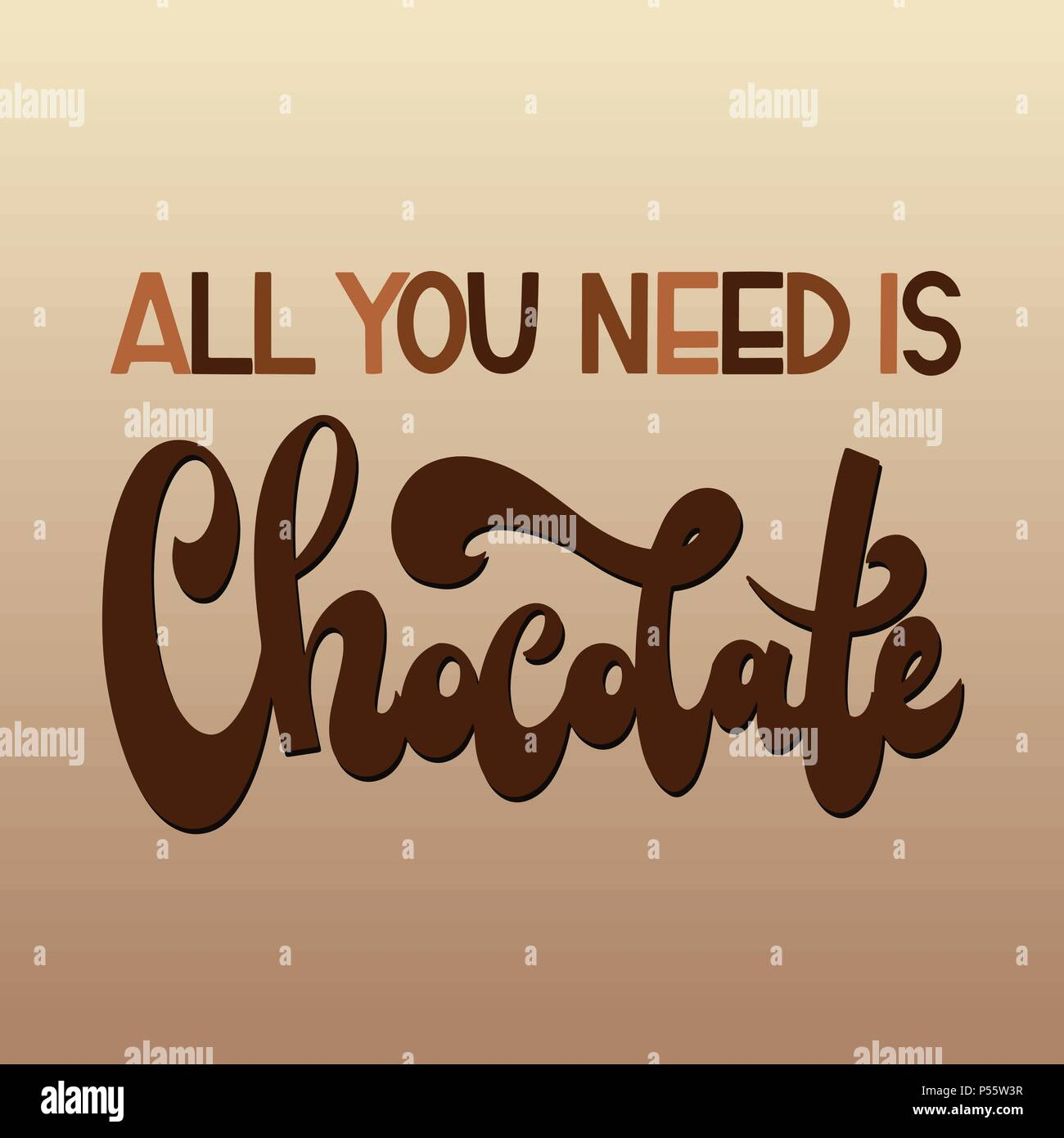 Chocolate World Day All You Need Is Chocolate Vector Elements For
