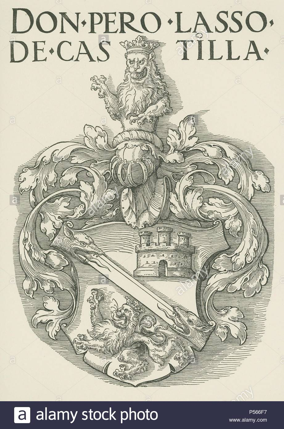 Coat of Arms of Don Pedro Lasso de Castilla. Around 1530. Woodcut, 470 x  323mm. Author: Albrecht Dürer (1471-1528).