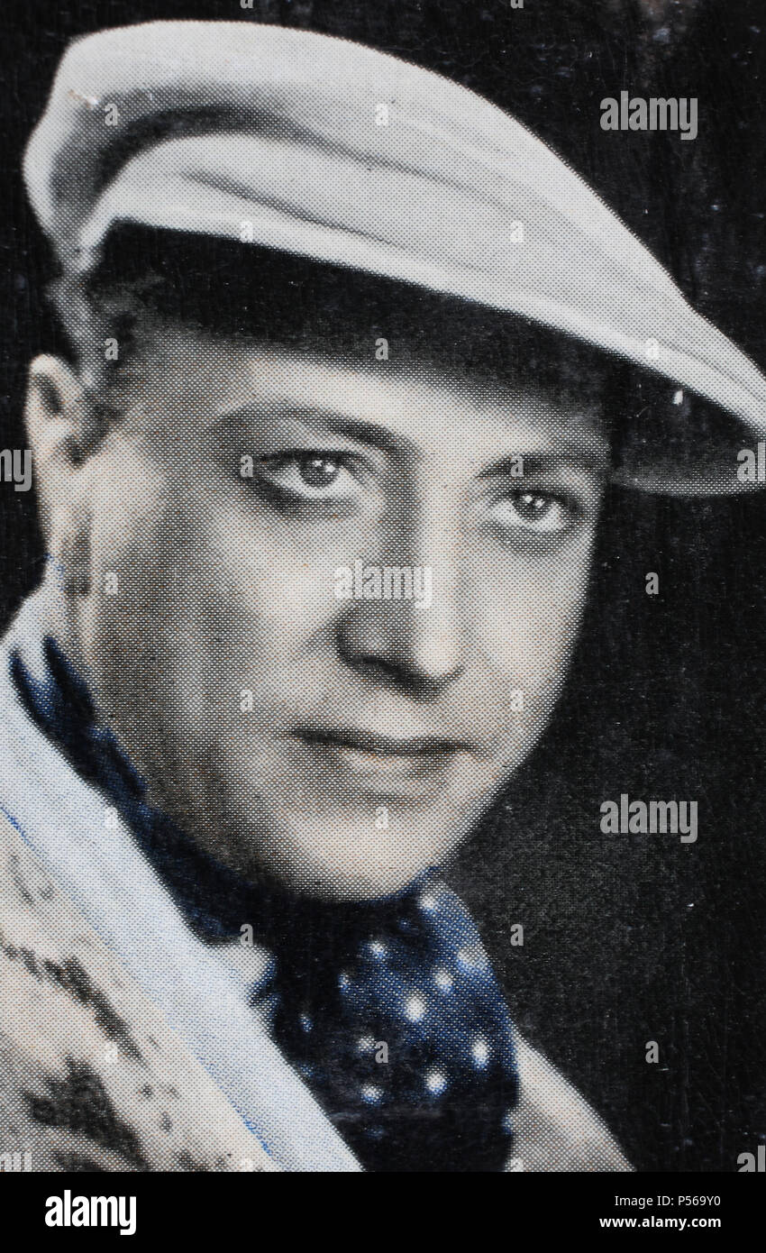 Hubert Hubsi von Meyerinck (23 August 1896 – 13 May 1971) was a German film actor, digital improved reproduction of an historical image - Stock Image