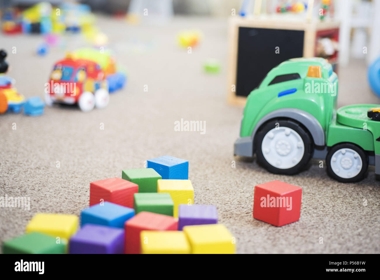 A mess in the children's room. Abstraction of childhood - Stock Image