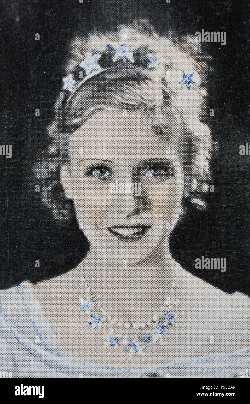 'Hanna Waag, eigentlich Johanna Elisabeth Justine Beck, (born 24. Mai 1904 in Gießen; died 13. August 1995 ebenda) war eine deutsche Schauspielerin', - Stock Image