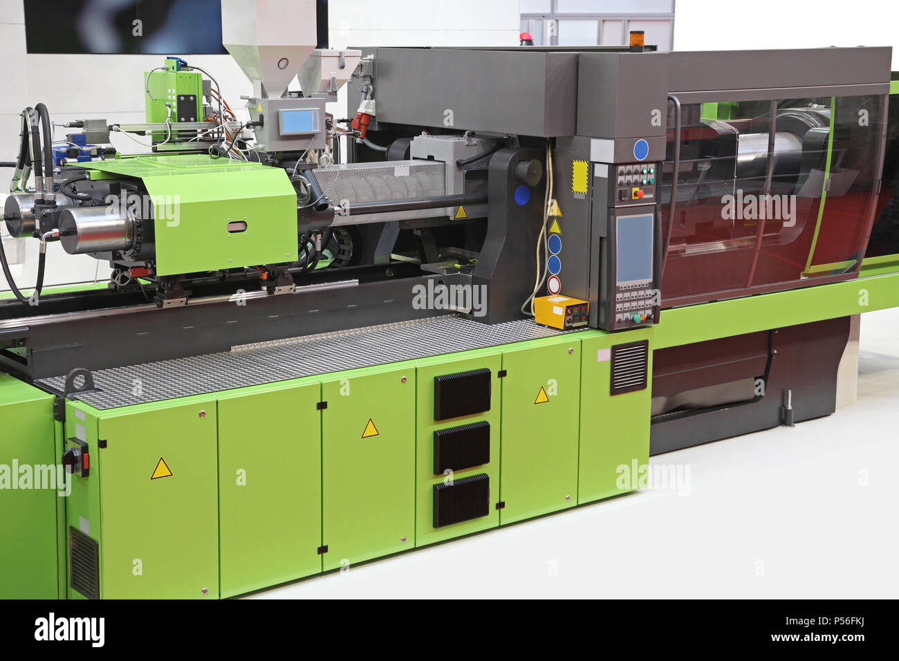 Injection Moulding Machine for Plastic Parts Production - Stock Image