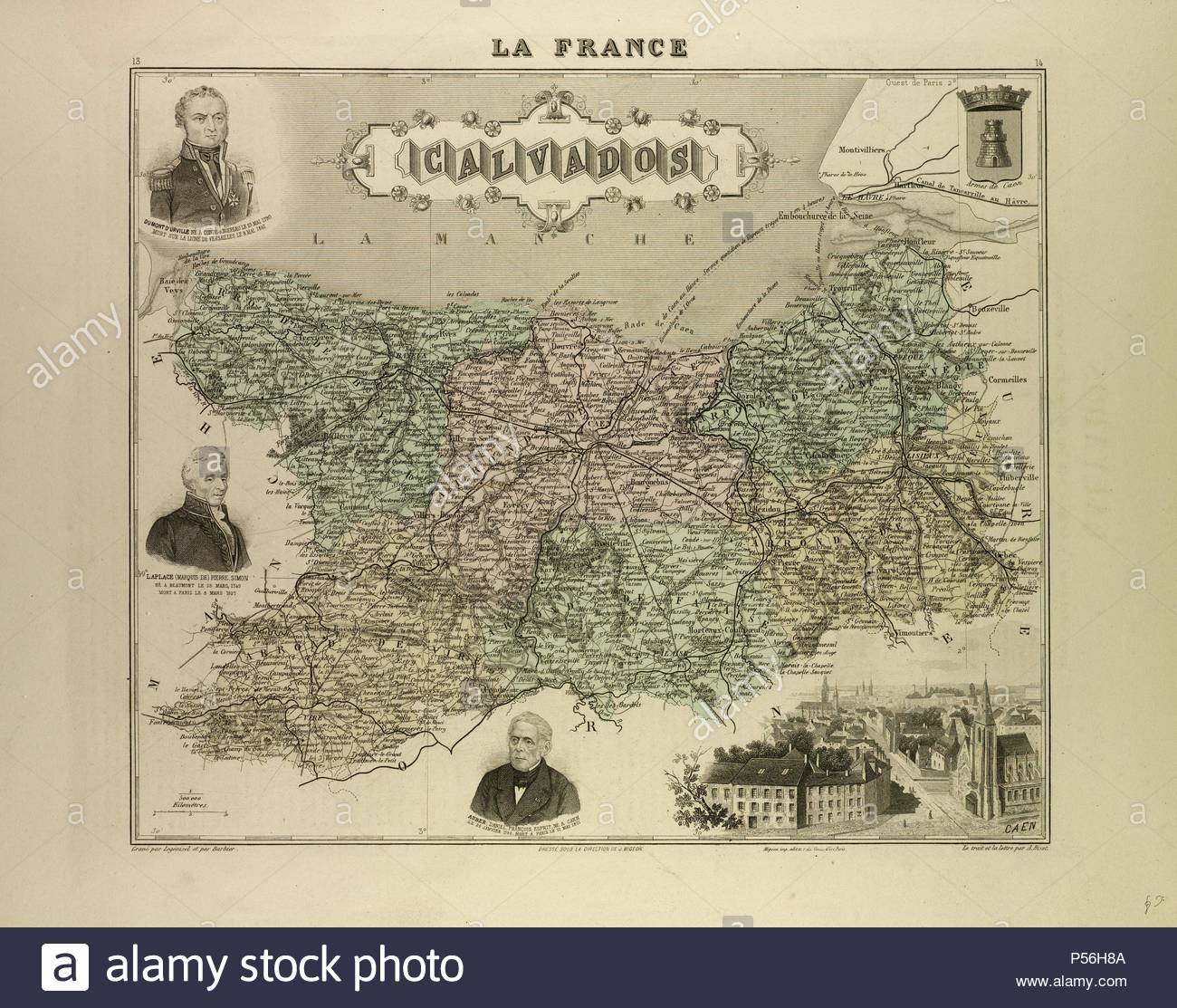 Calvados France Map.Map Of Calvados 1896 France Stock Photo 209742970 Alamy