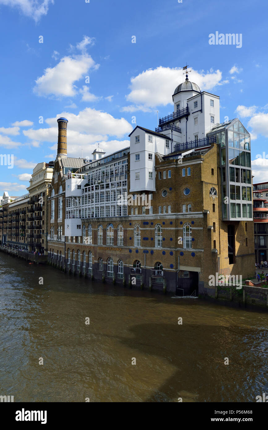 Butlers wharf, Shad Thames, Bermondsey, London, United Kingdom - Stock Image