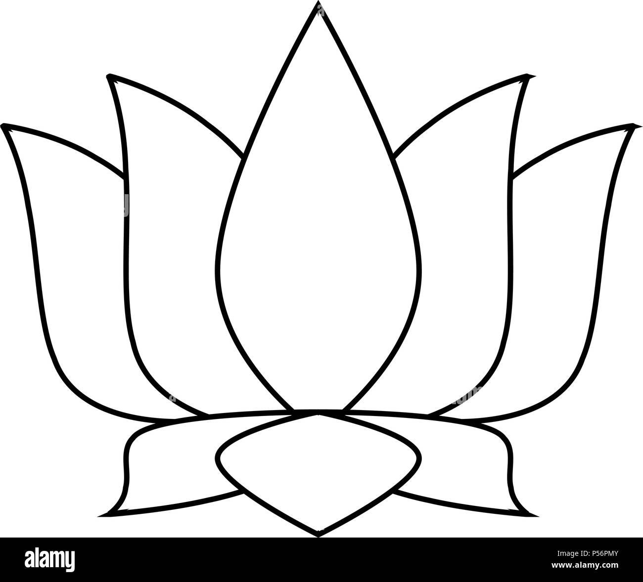Lotus flower symbol in black and white stock vector art lotus flower symbol in black and white mightylinksfo