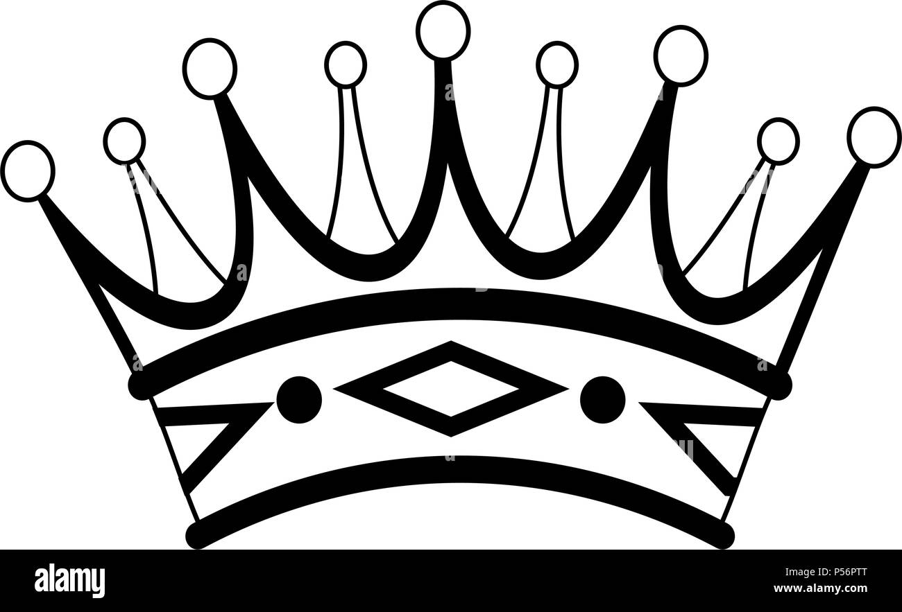 Luxury Crown Symbol In Black And White Stock Vector Art