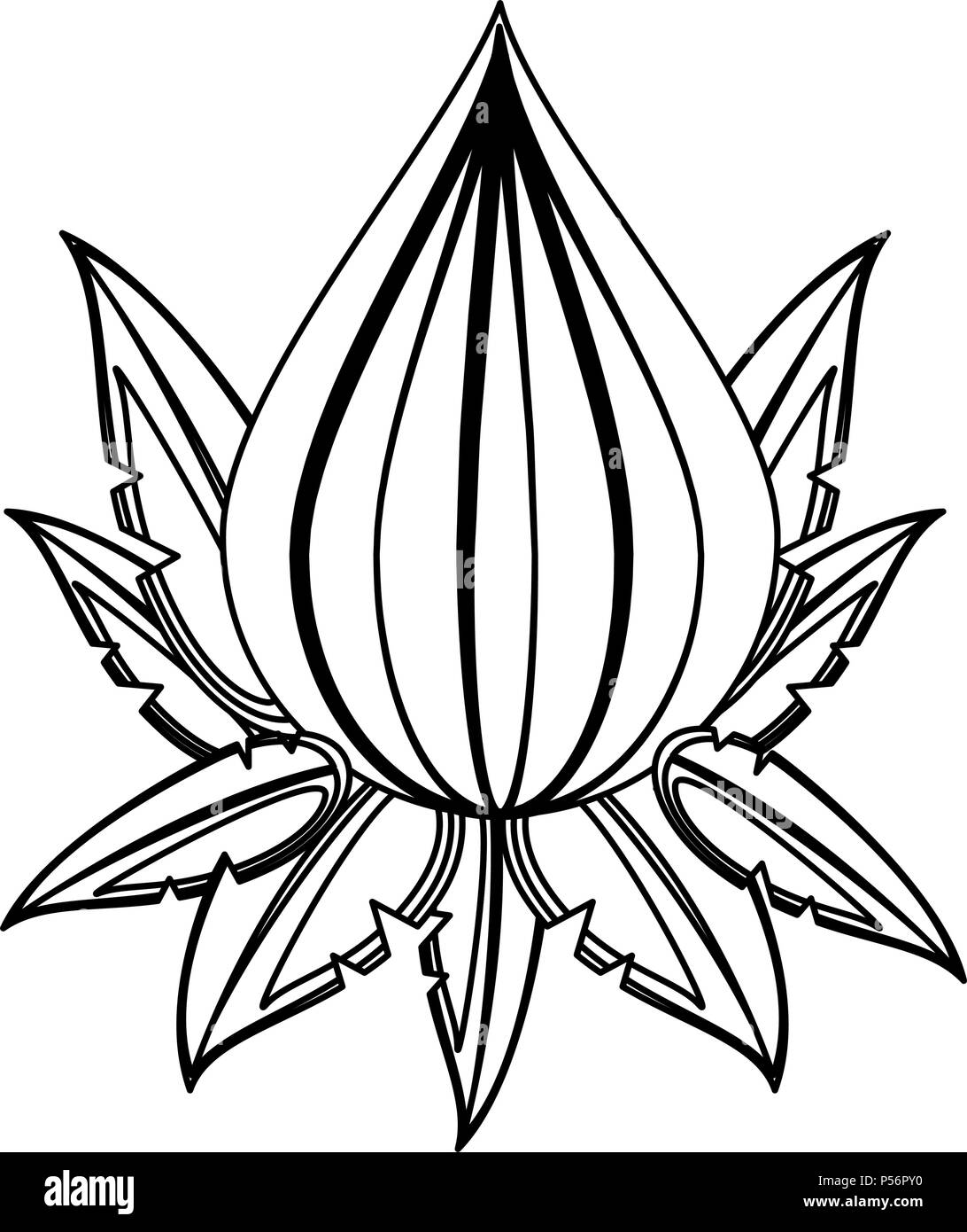 Lotus flower as symbol stock photos lotus flower as symbol stock lotus flower symbol in black and white stock image mightylinksfo