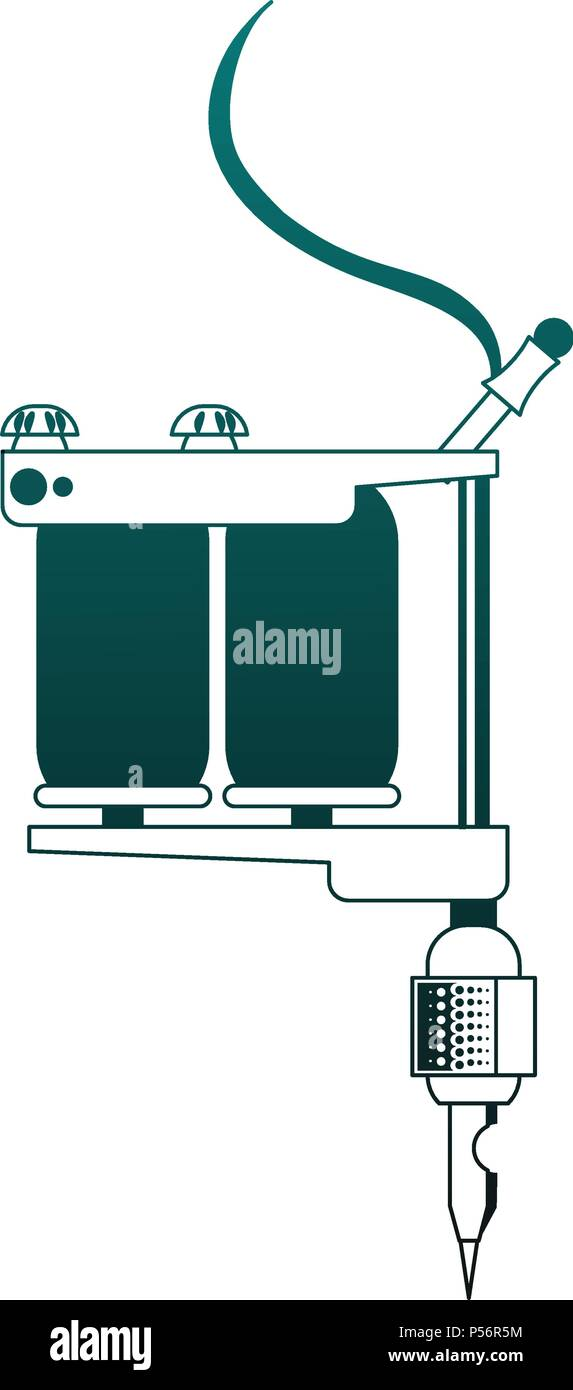 Tattoo Artist Hand Stock Vector Images Alamy Tattoomachinediagramjpg Machine Isolated In Blue Lines