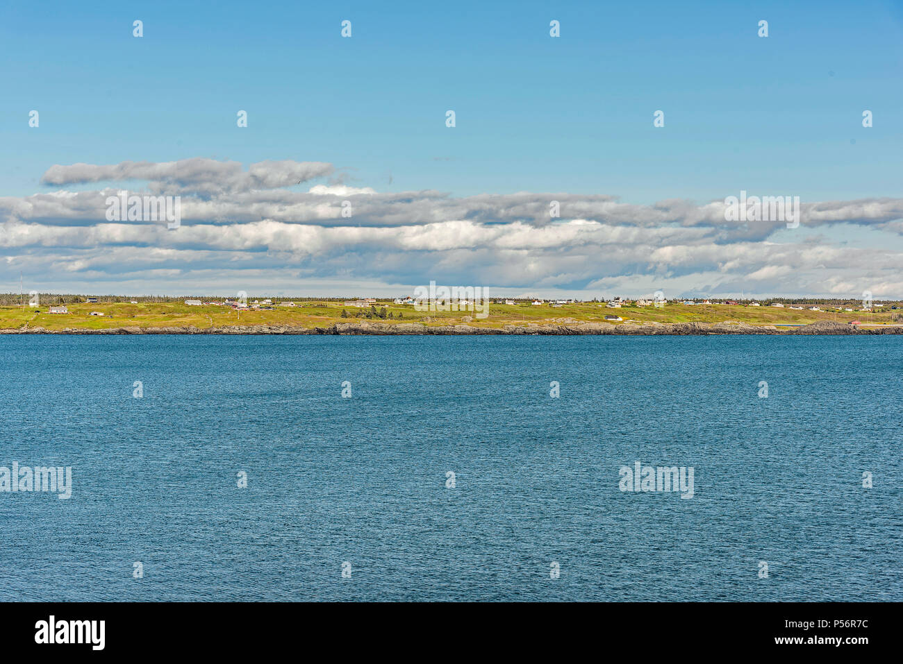 Yarmouth north shore view from Cape Forchu - Stock Image