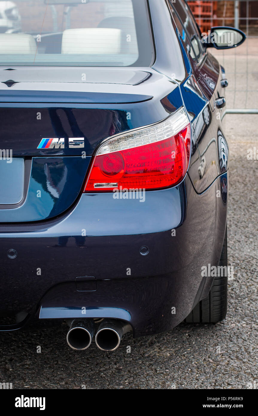 The Back Of A Bmw M5 E60 Sports Car Stock Photo Alamy