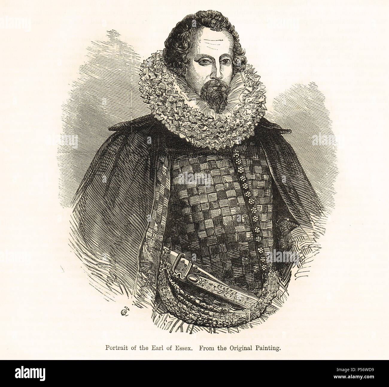Robert Devereux, 2nd Earl of Essex, English nobleman and favourite of Elizabeth I - Stock Image