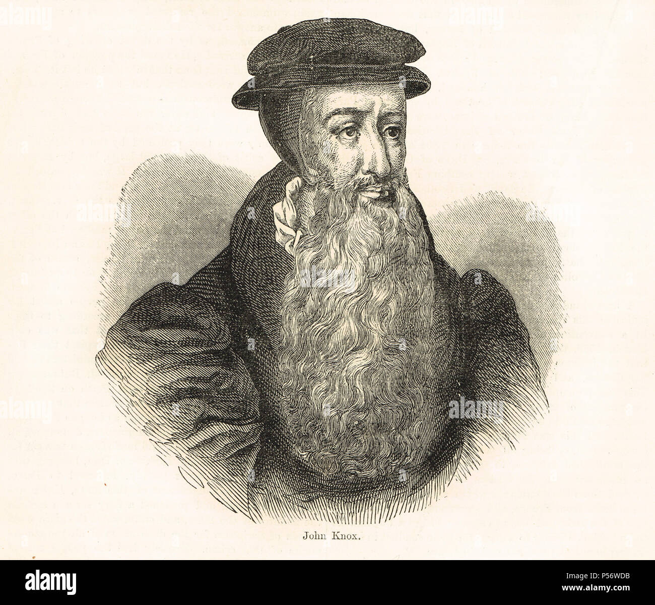 John Knox, Scottish Theologian, founder of the Presbyterian Church of Scotland and leader of the Scottish Reformation - Stock Image
