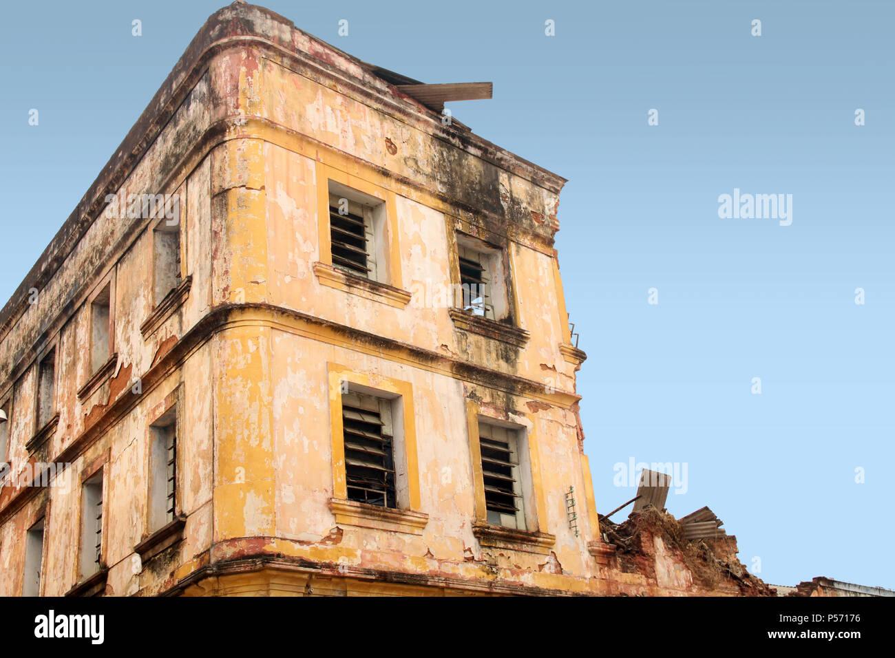 Old building, Historic center, Ribeira, Petrópolis, Natal, Rio Grande do Norte, Brazil - Stock Image